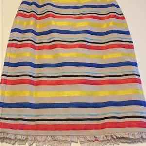 J.Crew Colorful jacquard striped skirt